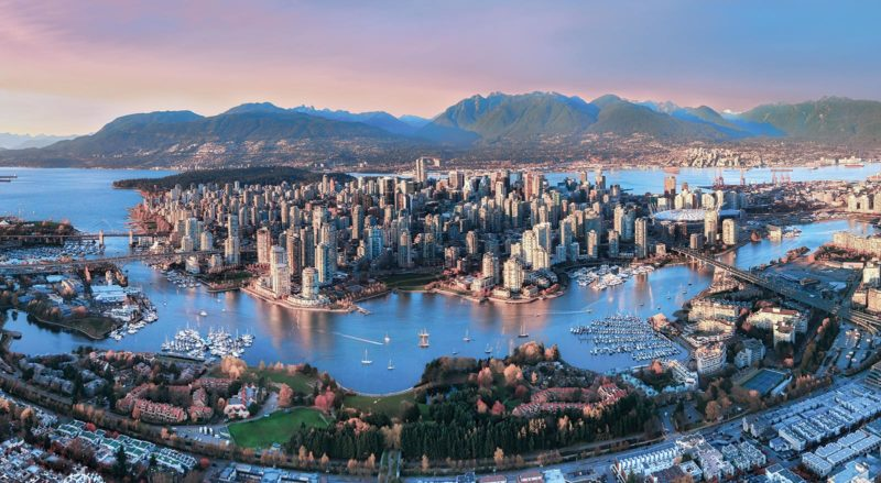 Aerial Sunset Vancouver 800x439 - Beautiful Vancouver